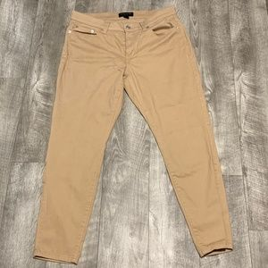 BANANA REPUBLIC KHAKI SKINNY FITTED PANTS